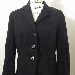 size 12 Gap long sleeve 3 button black blazer